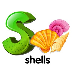 A letter s for shells vector