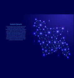 bangladesh map of polygonal mosaic lines network vector image