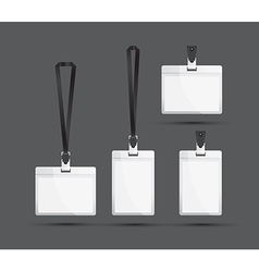 black lanyards vector image vector image