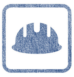 builder hardhat fabric textured icon vector image