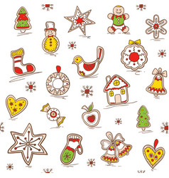 christmas seamless pattern holiday pattern vector image