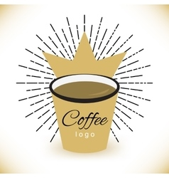 Coffee logo template with stylized cup vector