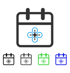 Drone day flat icon vector