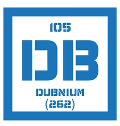 Dubnium chemical element vector
