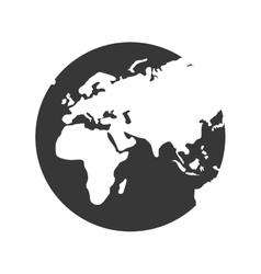 Earth icon Planet design graphic vector image vector image