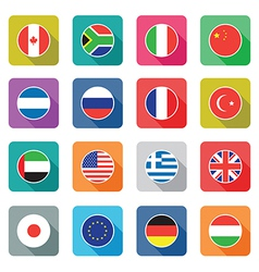 flat world icons vector image