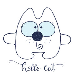 friendly cartoon cat vector image vector image