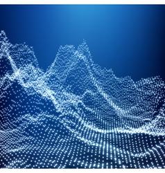 Geometric 3d mountain landscape terrain grid 3d vector