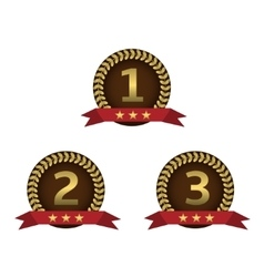 Golden award labels vector