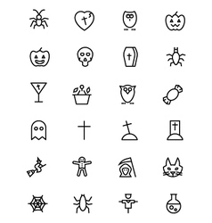 Halloween line icons 2 vector