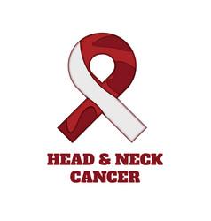 Head and neck cancer awareness papercut ribbon vector