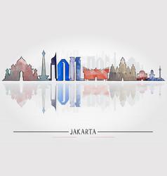 jakarta architecture tourism concept vector image