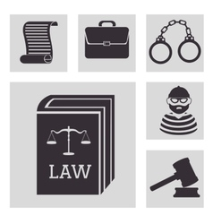law and order design vector image vector image