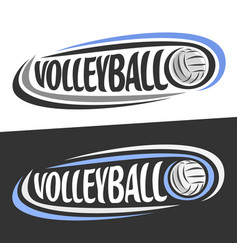 logos for volleyball sport vector image vector image