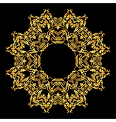 Mandala round ornamentArabic Vintage decorative vector image
