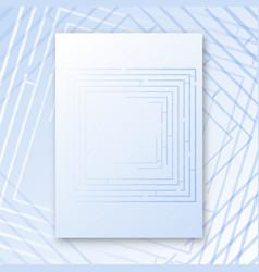 maze interior poster vector image vector image