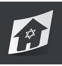 Monochrome jewish house sticker vector