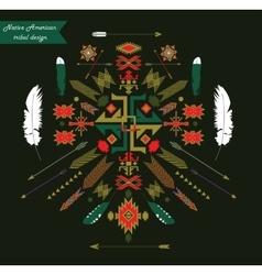 Native american tribal design ornament vector