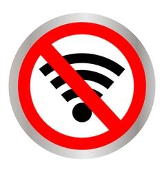 No signal sign vector image