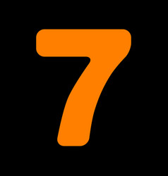 Number 7 sign design template element orange icon vector
