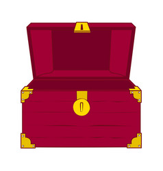 open empty treasure chest vector image vector image