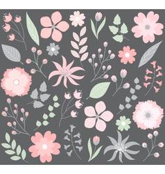 Pastel Floral Set vector image vector image