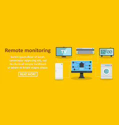 Remote monitoring banner horizontal concept vector