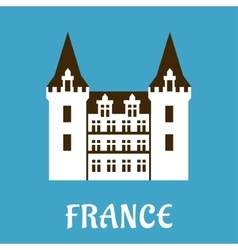 Renaissance castle with turrets france vector