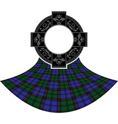 Scottish celtic ring vector