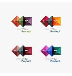 Set of abstract square interface menu navigation vector