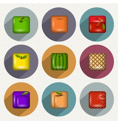 Set of icons of fruits vector image vector image