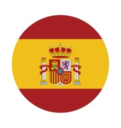 Spain flag isolated icon vector
