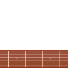 Straight guitar fretboard vector