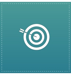 Successful shoot flat icon vector image