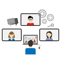 Teleconference vector image