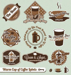 Cup of coffee labels vector