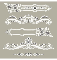 Set vintage elements ornaments vector