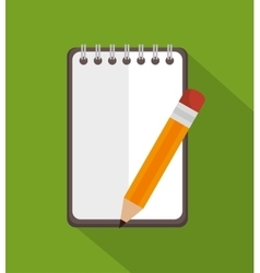 notepad with pencil education icon vector image