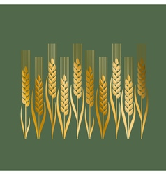 Wheat in art nouveau style vector
