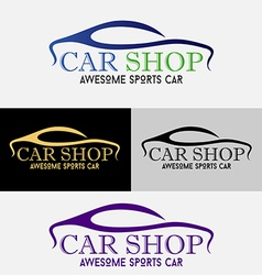Car showroom logo vector