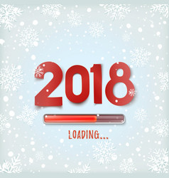 Happy new year 2018 loading abstract design vector