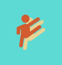 rhythmic gymnastics design in sticker style vector image