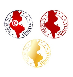Made in tunisia stamp vector
