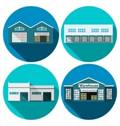 Warehouse flat vector