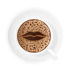 coffee crema 06 vector image