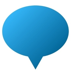 Hint balloon gradient icon vector