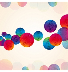 abstract design tech circles background vector image