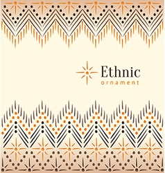 Beautiful vintage ethnic ornament background vector image vector image