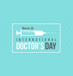 Card style for international doctor day vector