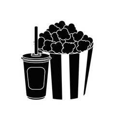 Cinema pop corn vector